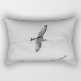 seagull in grey Rectangular Pillow