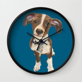 Cute Terrier Mix Wall Clock