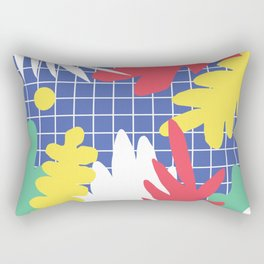 Memphis Leaves Jungle Rectangular Pillow