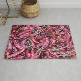 Red chili spicy pattern Rug