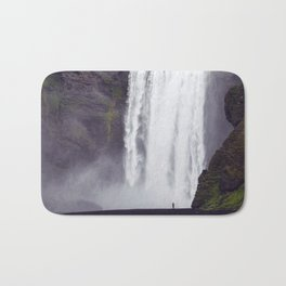 Man Vs. Nature - Skógafoss, Iceland Bath Mat