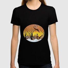 Pheasants in the sunrise T-shirt