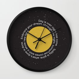 Bedtime Prayer Wall Clock
