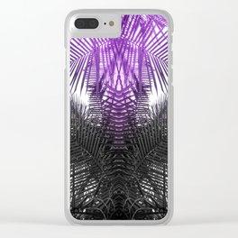 purple gray fern Clear iPhone Case