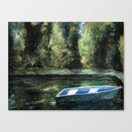 Rowboat and Reflections on the Water Canvas Print