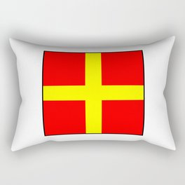 International maritime signal flag sea alphabet collection letter r Rectangular Pillow