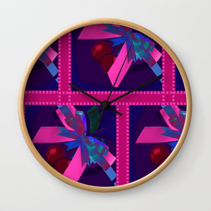 Box of Cherries Wall Clock