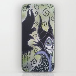 Maleficent Sugar Skull iPhone Skin