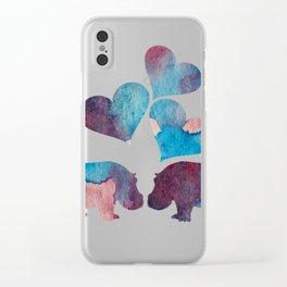Hippo Art Clear iPhone Case