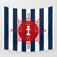 nautical Wall Tapestries featuring Nautical by Kathe Gravel