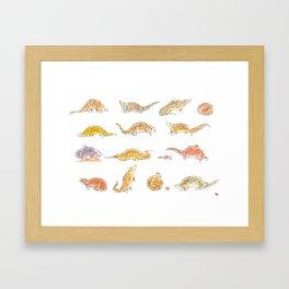 Pangolins Framed Art Print