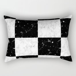 Elegant black white marble Rectangular Pillow