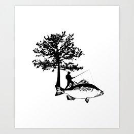 Fisherman Gifts For Dad Boyfriend Men Fishing Art Print