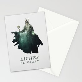 Lich (Typography) Stationery Cards