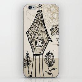 bird house iPhone Skin
