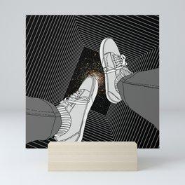 FALLING INTO THE SPACE Mini Art Print