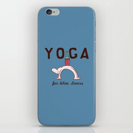 Yoga for Wine Lovers iPhone Skin