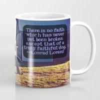 german shepherd Mugs featuring Faithful German Shepherd by Jo Bekah Photography