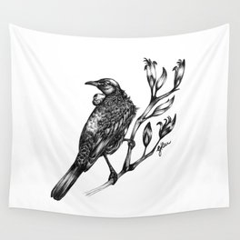 New Zealand Tui Wall Tapestry