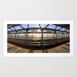 Sapperton Skytrain Station Art Print