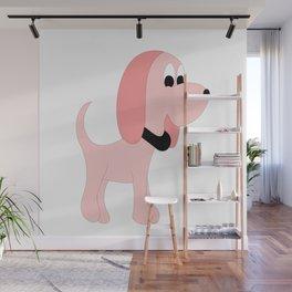 PINK DIVA DOG Wall Mural