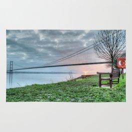 Sunset at the Humber Bridge Rug