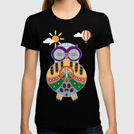 Decorated owl T-shirt
