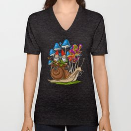 Mushroom Gnomes Unisex V-Neck