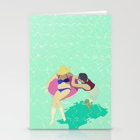 pool Stationery Cards featuring Pool by ministryofpixel