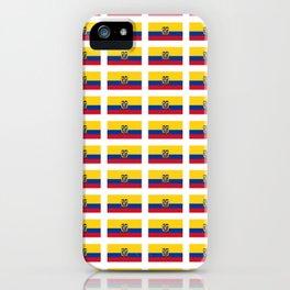 Flag of Ecuador 2- Ecuadorian,Kichwa,Inca,Guayaquil,Quito iPhone Case