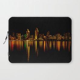 San Diego Skyline at Night Laptop Sleeve