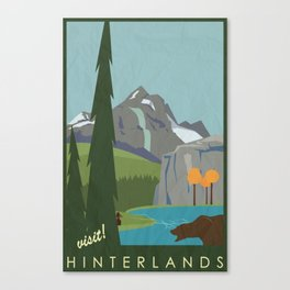 Dragon Age - Hinterlands Travel Poster Canvas Print