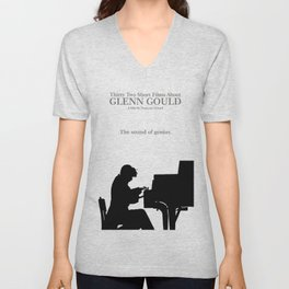 Glenn Gould, Thirty two short films about Glenn Gould,  François Girard, music poster, piano design Unisex V-Neck