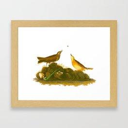 Brown Lark Bird Framed Art Print