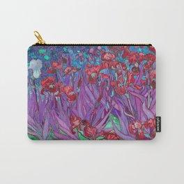 Vincent Van Gogh Irises Painting Cranberry Purple Palette Carry-All Pouch
