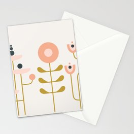 very graphic flowers Stationery Cards