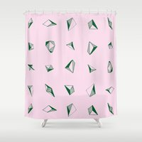 diamonds Shower Curtains featuring DIAMONDS by ZARYA