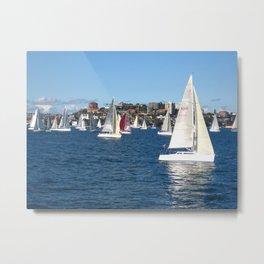 Sailing in Sydney Metal Print