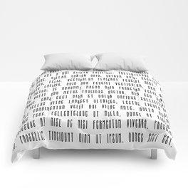 Lorem ipsum dolor sit met quote Comforters