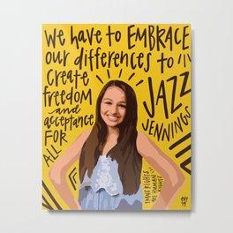Jazz Jennings. Metal Print