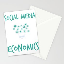 Social Media Can Wait It's Time For Economics Study Stationery Cards