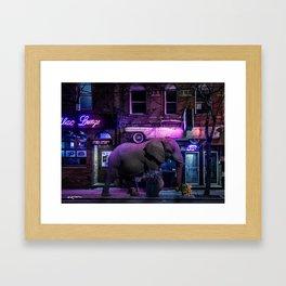 buying late night apologies Framed Art Print
