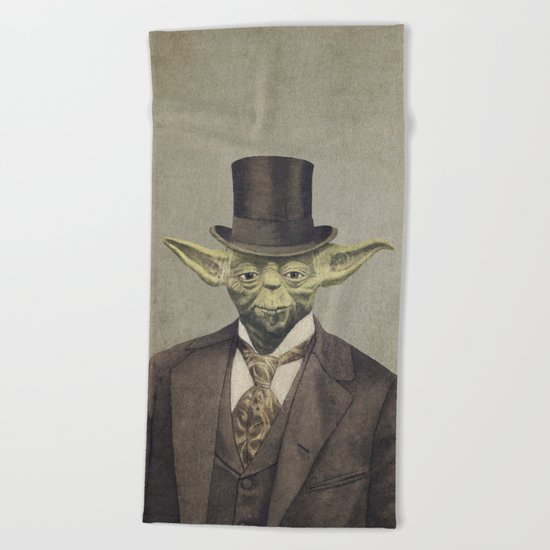 Sir Yodington  - square format Beach Towel