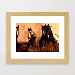Horse Spirits Framed Art Print