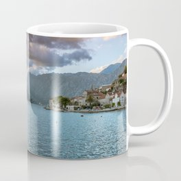 Sunset over Perast Coffee Mug