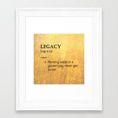 Hamilton: Legacy Framed Art Print