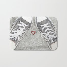 Sneaking Up On Love Bath Mat