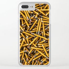 Pencil it in / 3D render of hundreds of yellow pencils Clear iPhone Case