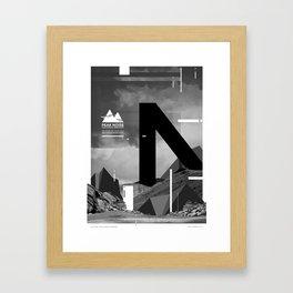 Peak Noise 1 Framed Art Print