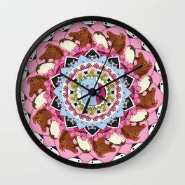 Catbug Flower Wall Clock